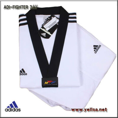 adidas New 3-stripe fighter taekwondo dobok/ultra-lightweight/karatedo/uniform