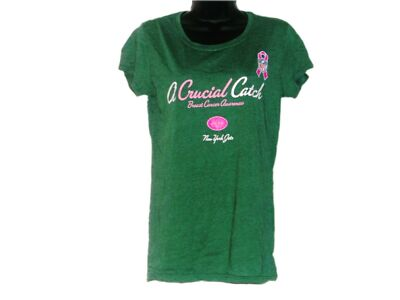 "New York Jets Womens ""A Crucial Catch"" Fitted Tee   SZ -  L **NWOT**"
