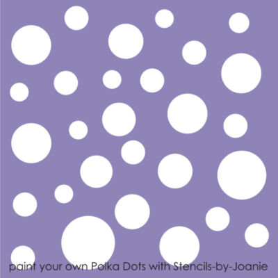 STENCIL Polka Dot Wall Art Craft Pattern Template Cottage Chic Shabby Decor sign