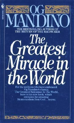 The Greatest Miracle in the World, Og Mandino, Good Condition, Book