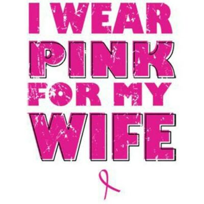 Cancer Shirt I Wear Pink For My Wife square Breast Awareness Apparel Xl Pink