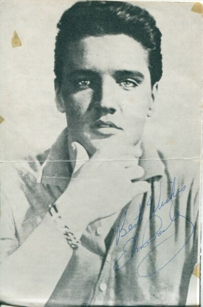 "ELVIS PRESLEY EXCLUSIVE STUNNING AUTOGRAPH SIGNED  PHOTO MINT  5"" X 7"""