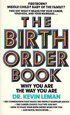 Birth Order Book, Kevin Leman, Good Condition, Book