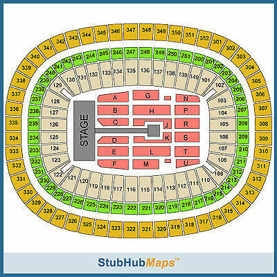 One Direction Tickets 10/01/14 (Atlanta) Section 109