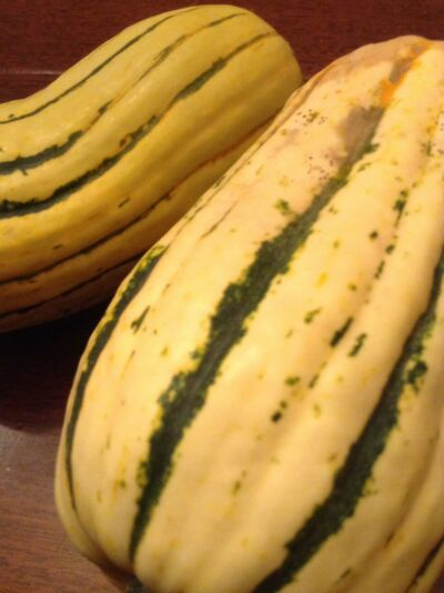 Delicata Squash --30+ seeds. Heirloom, stores well, edible skin, healthy-yummy!