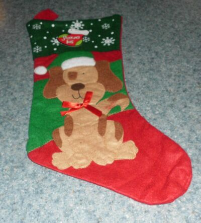 Brand New Cute Dog Christmas Stocking Snowflake Design For Dog Rescue Charity