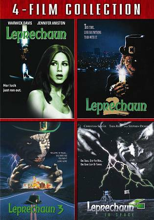 Leprechaun Four Film Collection, Good DVD, Warwick Davis, Jennifer Aniston, Char