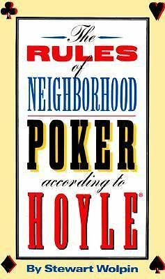 The Rules of Neighborhood Poker According to Hoyle, Wolpin, Stewart, Good Condit