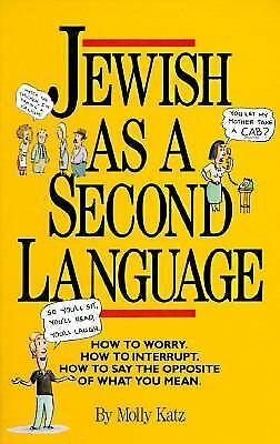 Jewish as a Second Language, Katz, Molly, Good Condition, Book