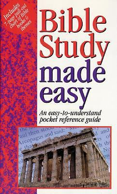 Bible Study Made Easy, Mark Water, Good Condition, Book