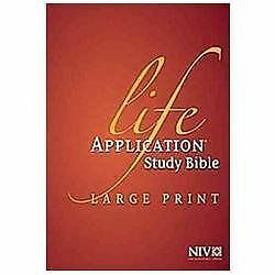 Life Application Study Bible NIV, Large Print by