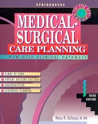 Medical-Surgical Care Planning (Springhouse Care Planning Series), , Good Condit