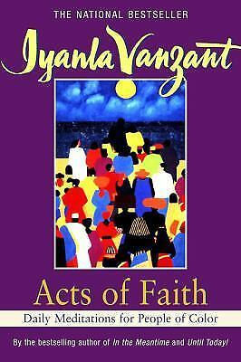 Acts of Faith: Daily Meditations for People of Color, Iyanla Vanzant, Good Condi