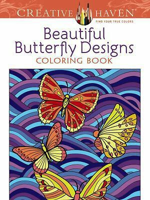 Creative Haven Beautiful Butterfly Designs Coloring Book (Creative Haven Colorin