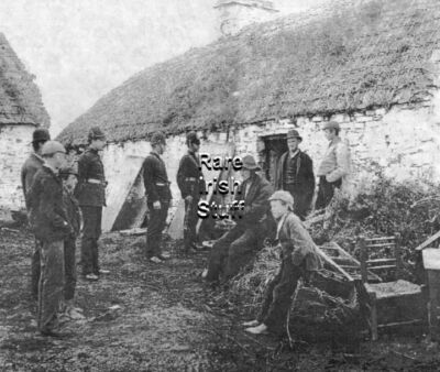 Irish Famine Rare Eviction West of Ireland- C1850 Photo