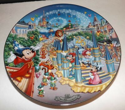 Disney Remember The Magic Parade 25th Anniversary Limited Edition Plate Bradford