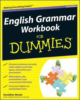 English Grammar Workbook For Dummies, Woods, Geraldine, Very Good Book