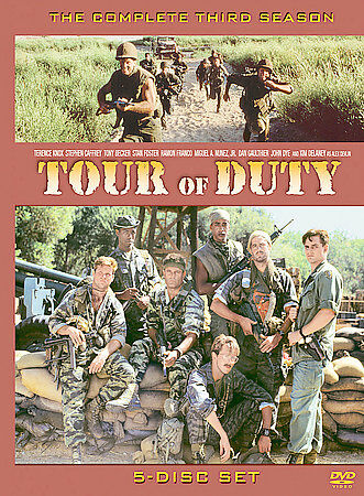 TOUR OF DUTY dvd   COMPLETE THIRD 3rd season  5 disc set