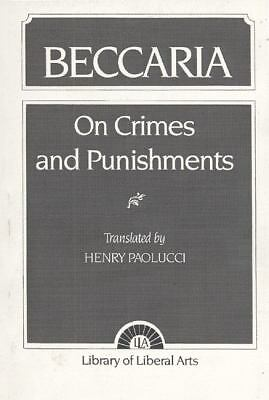 BECCARIA On Crimes and Punishments paperback