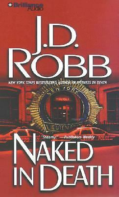 J D Robb (Nora Roberts) NAKED IN DEATH audiobook on 5 cd set