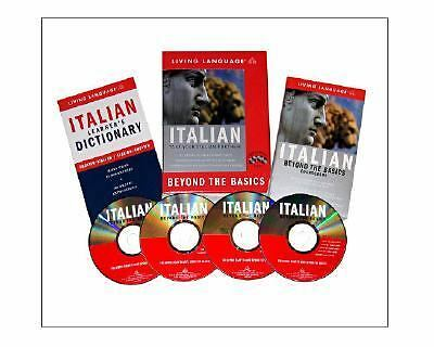 BEYOND THE BASICS Italian by Living Language 4cd's coursebook dictionary