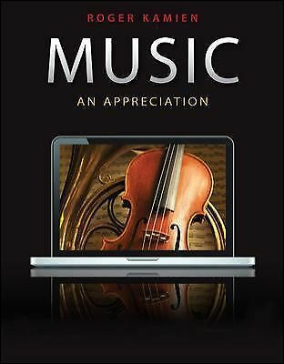 Music: An Appreciation, Roger Kamien, Very Good Book
