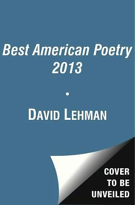 The Best American Poetry 2013, Lehman, David, Acceptable Book