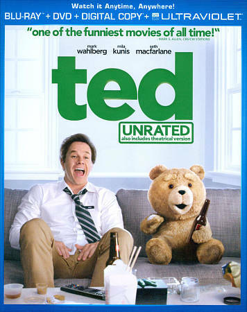 Ted (Blu-ray Disc, 2012, 2-Disc Set, Unrated; Includes Digital Copy;...