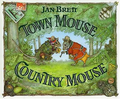 NEW Town Mouse Country Mouse by Jan Brett (1994, Hardcover)