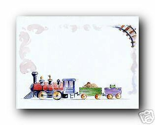 25 Boy's Birthday Blank Train Invitations