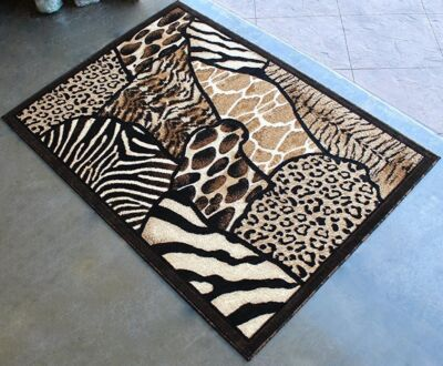 6' X 8' AFRICAN SAFARI ANIMAL SKINS PRINT HIGH QUALITY DENSITY AREA RUG EXOTIC