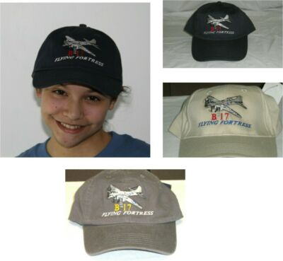 B-17 Flying Fortress Warbird Airplane Embroidered Hat