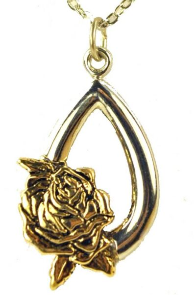 Memorial Rose Pendant Necklace New with Tags