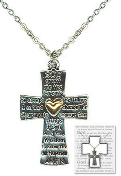 Serenity Prayer Cross Necklace