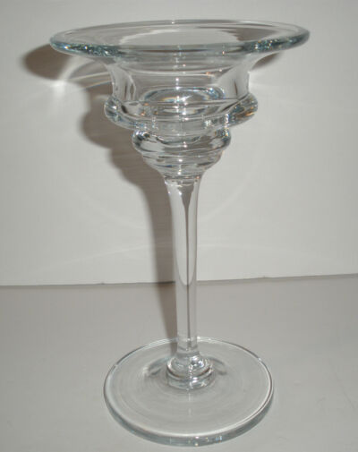 Vintage Tall Crystal Candle Holder For Votives Contemporary Beautiful MINT