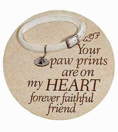 Your Paw Prints Are on My Heart Forever Garden Stone NEW SKU 14215