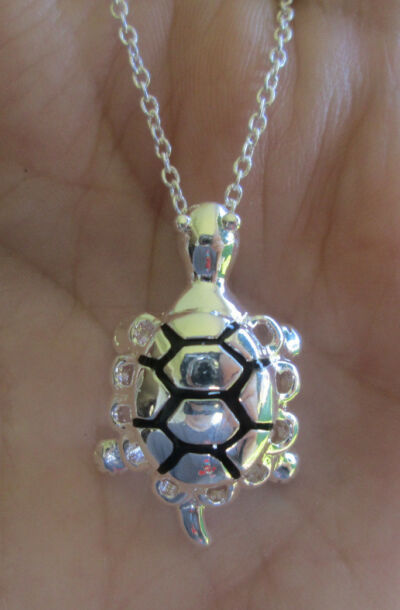 Sterling Silver Turtle Tortoise Necklace
