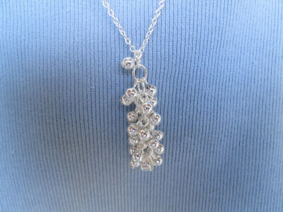 Sterling Silver Grape Necklace
