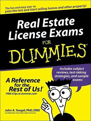 Real Estate License Exams for Dummies� by John A. Yoegel (2005, Paperback)