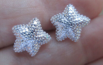 Sterling Silver Starfish Sea Star Earrings
