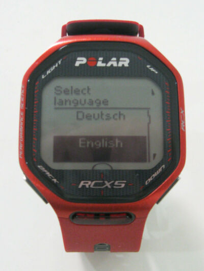 POLAR RCX5 Red Computer Watch ONLY Training Athlete Bike Fitness For Run GPS HR