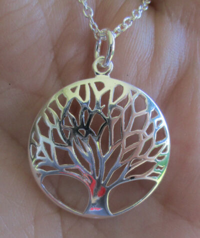 Sterling Silver Tree Pendent Necklace Tree of Life or Tree of Gondor
