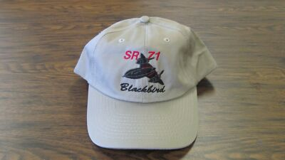 SR-71 Blackbird Military Jet Aircraft Embroidered Khaki Hat