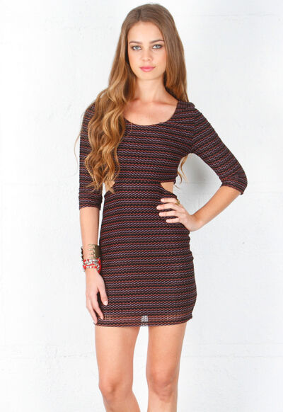 Lovers + Friends Love Connection Dress/Chevron  MSRP$165 **CHOOSE SIZE**