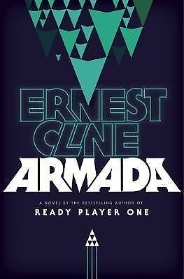 Armada by Ernest Cline (2015, softcover) ARC + two promo stickers