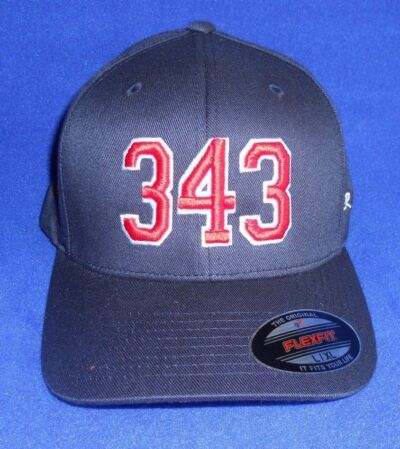 343 Never Forget 3D Puffy Embroidery Firefighter Ball Cap FDNY 9-11