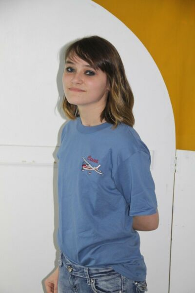 Cessna Aircraft 172, 152 Denim Embroidered Crest T-shirt