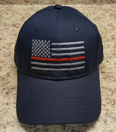 Thin Red Line, Thin Blue Line   Support for Firefighters and Police Ball Cap