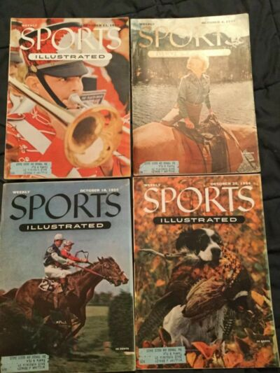 Sports Illustrated - October 1954 - 4 different issues