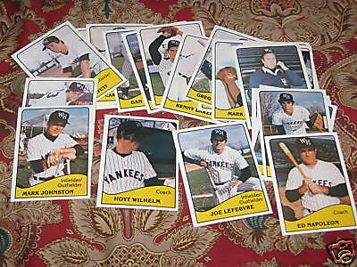 1979 West Haven Yankees minor league set - 28 cards